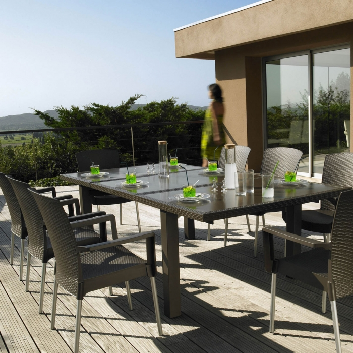 Table design ineo 240 grosfillex - Table jardin grofilex besancon ...