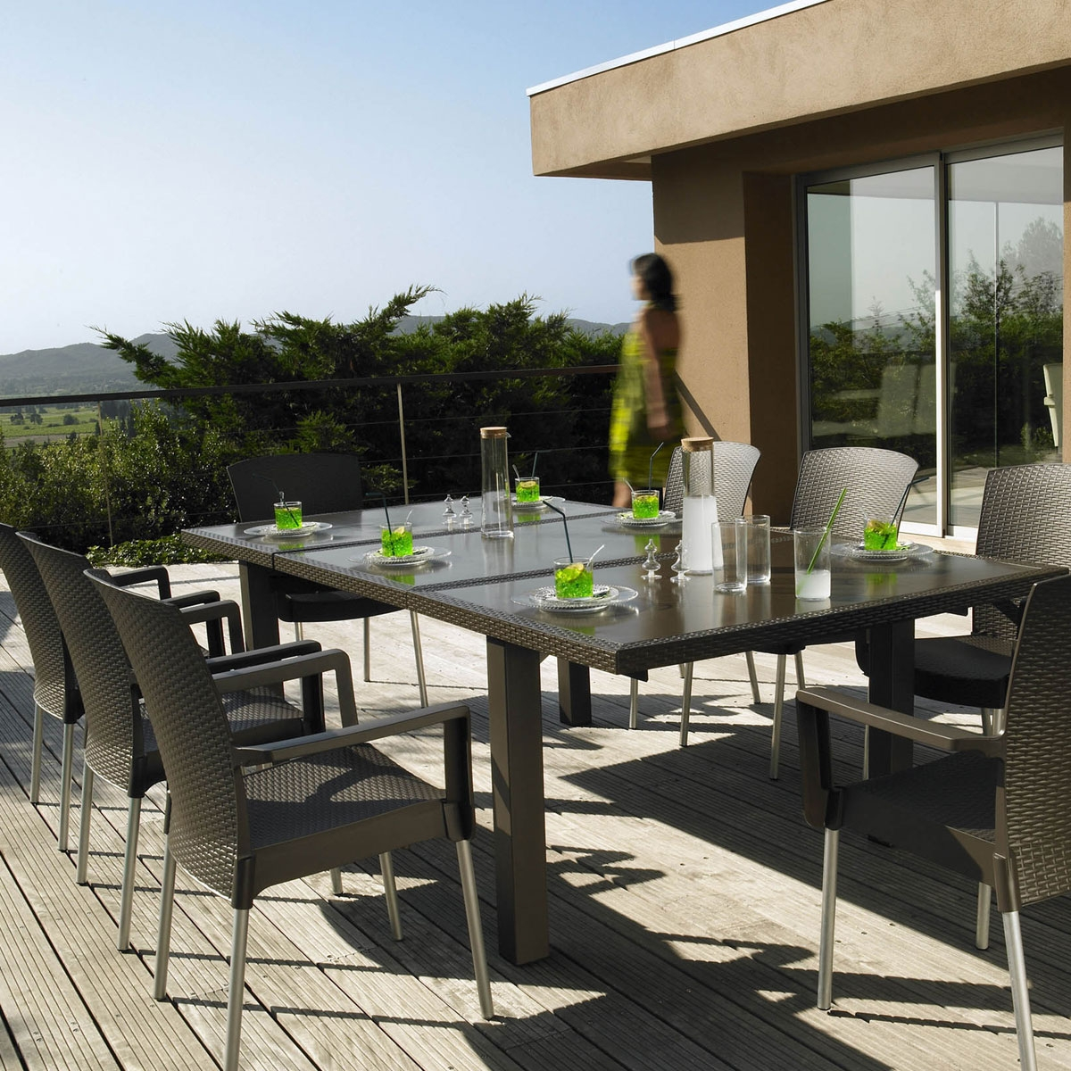 Salon de jardin grofillex zendart design - Table jardin grofilex besancon ...