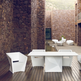 Table de repas design Faz HPL Vondom mat