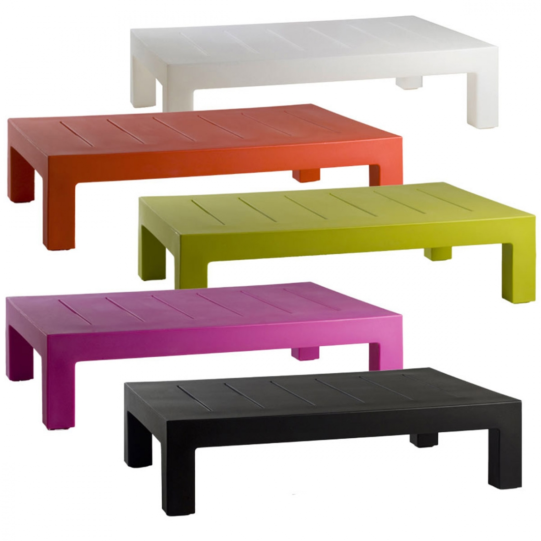 Table basse design d ext rieur jut par vondom - Salon de jardin plastique blanc design ...