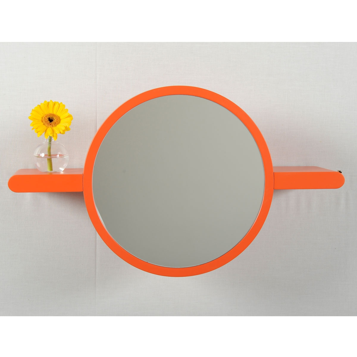 Miroir tablette design mirette rond par oxyo for Miroir design rond