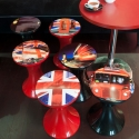 Ensemble 6 tabourets Tam Tam collection London STAMP EDITION