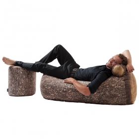 Sofa d'extérieur design Forest tree trunk outdoor MEROWINGS