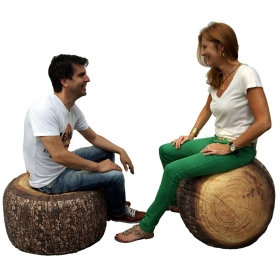 Gros pouf design d'extérieur Forest Stump outdoor MEROWINGS