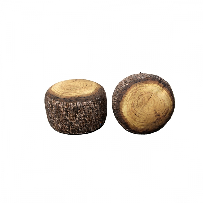 Gros pouf design Forest Stump MEROWINGS