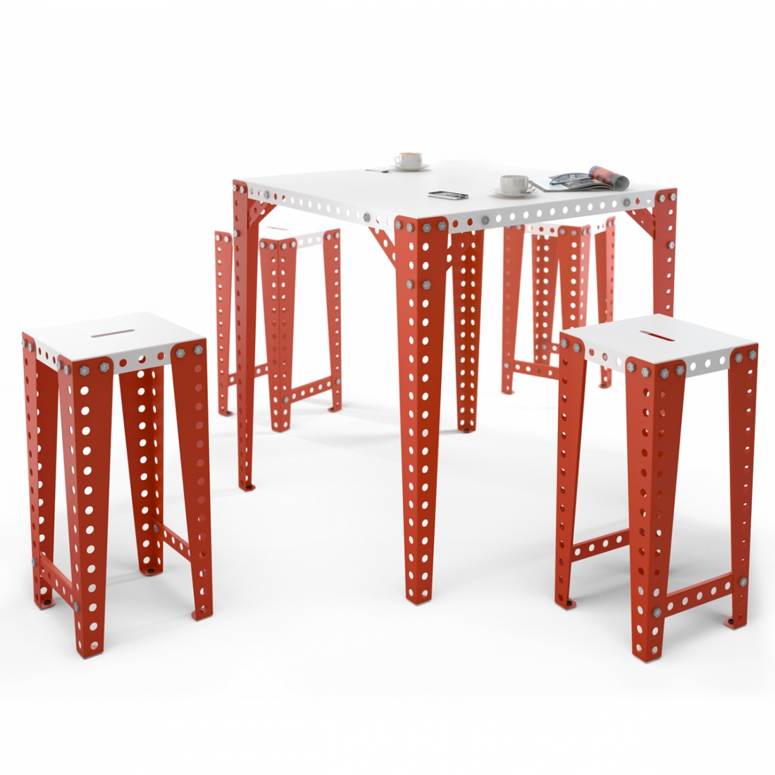 tabouret haut design meccano zendart design. Black Bedroom Furniture Sets. Home Design Ideas