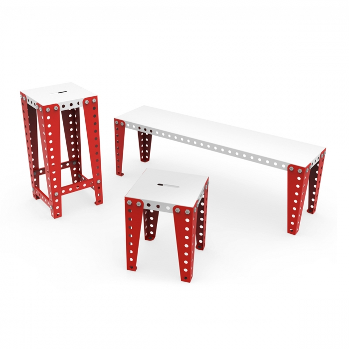 Tabouret de bar design MECCANO