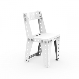 Chaise enfant design MECCANO