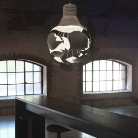 Suspension lumineuse design SCHEISSE