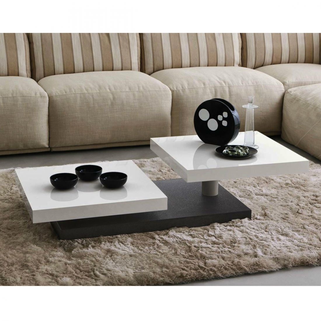 table basse 2 plateaux c cilia zendart design. Black Bedroom Furniture Sets. Home Design Ideas