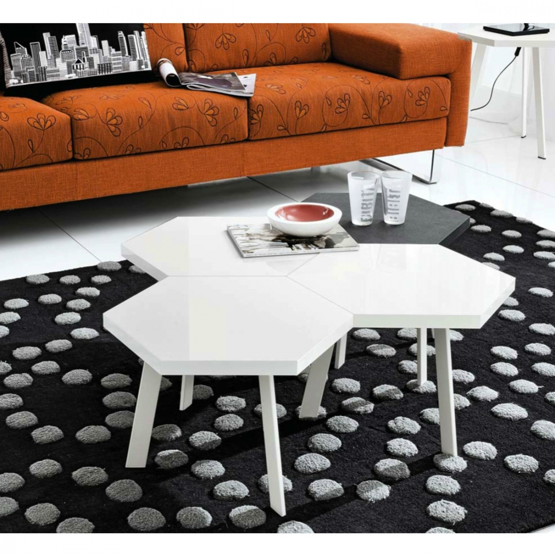 Table d appoint basse design rossella - Table basse d appoint ...