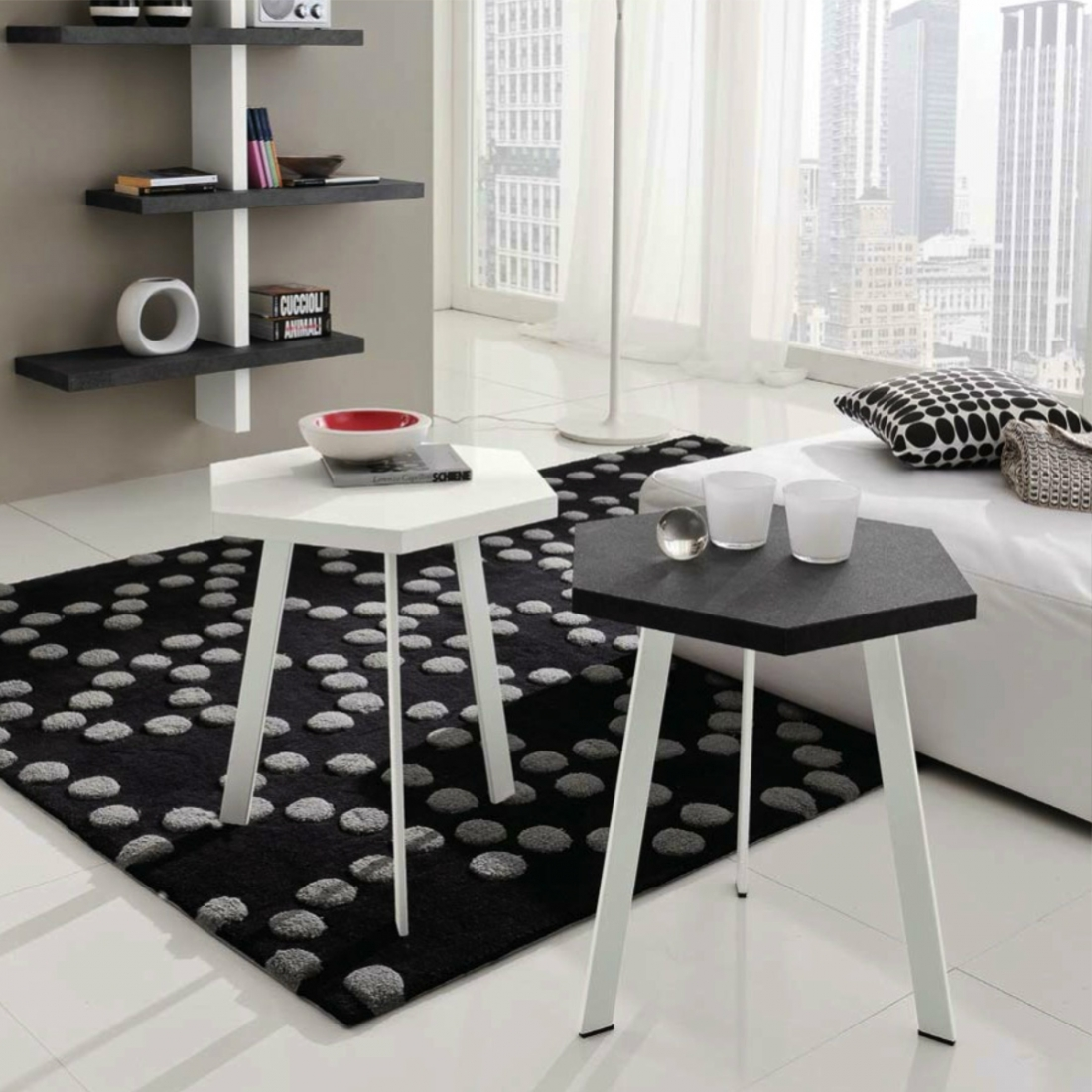 table d appoint haute design rossella. Black Bedroom Furniture Sets. Home Design Ideas