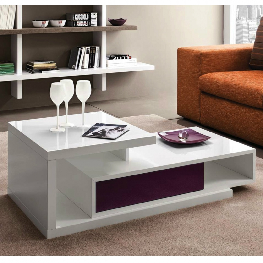 table basse vitrine design. Black Bedroom Furniture Sets. Home Design Ideas