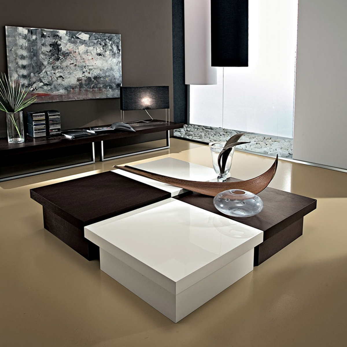 Grande table basse design lolah for Grande table basse rectangulaire