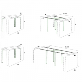 Console-table extensible design FABIO