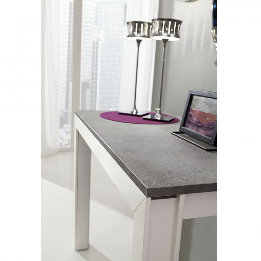 Table console extensible design mattia zendart design for Petite table a manger extensible