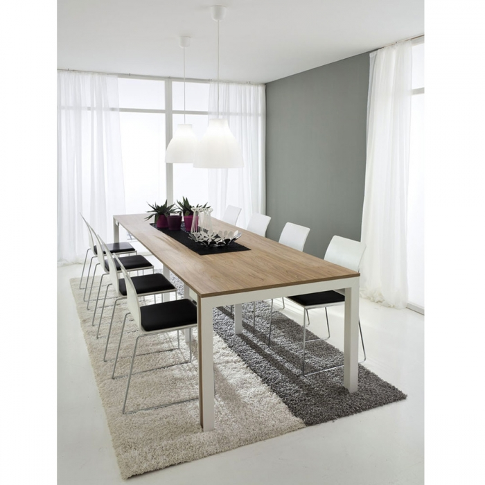 Table 100x181/311cm console extensible 50x100cm design MATTIA par Zendart Sélection