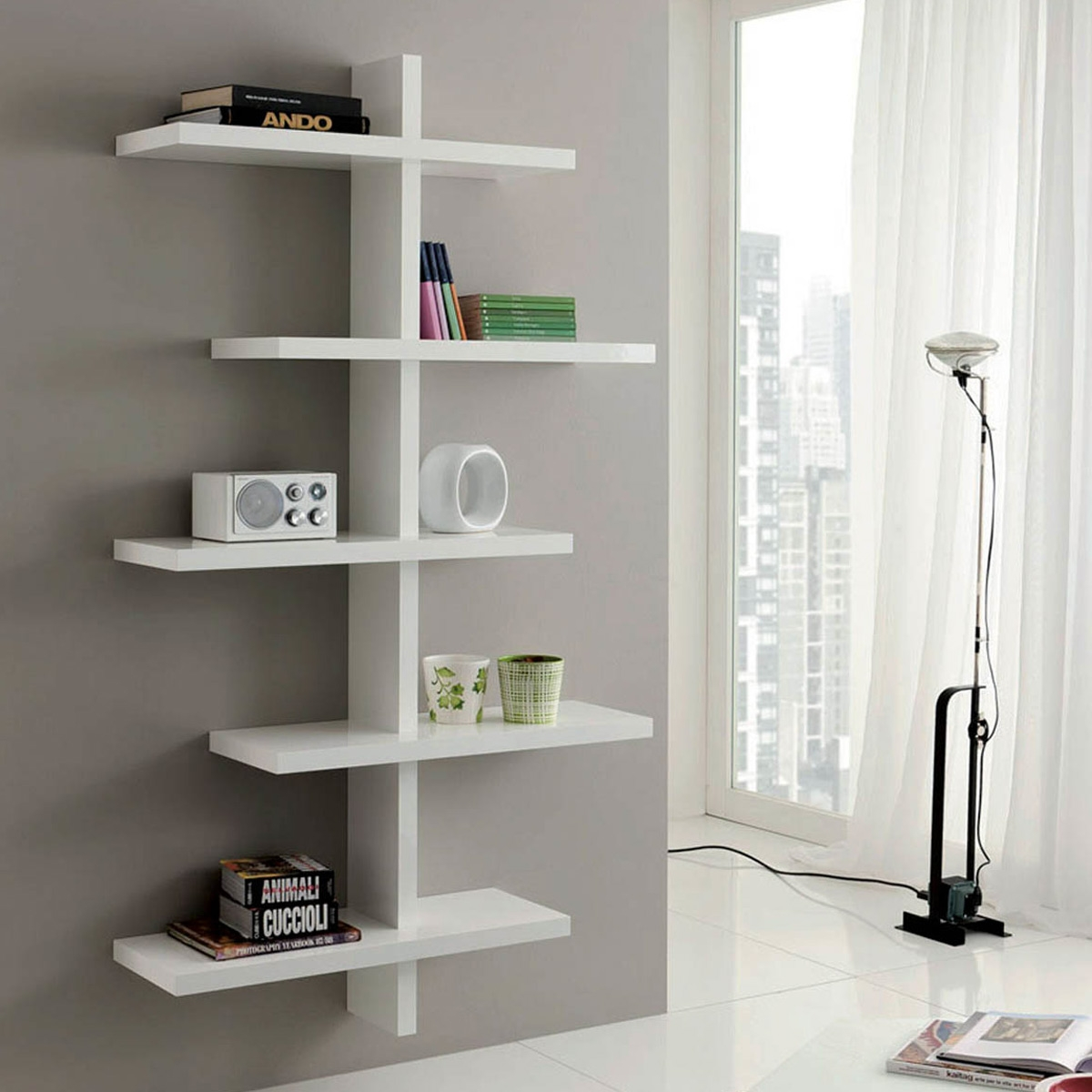etagere murale hifi. Black Bedroom Furniture Sets. Home Design Ideas