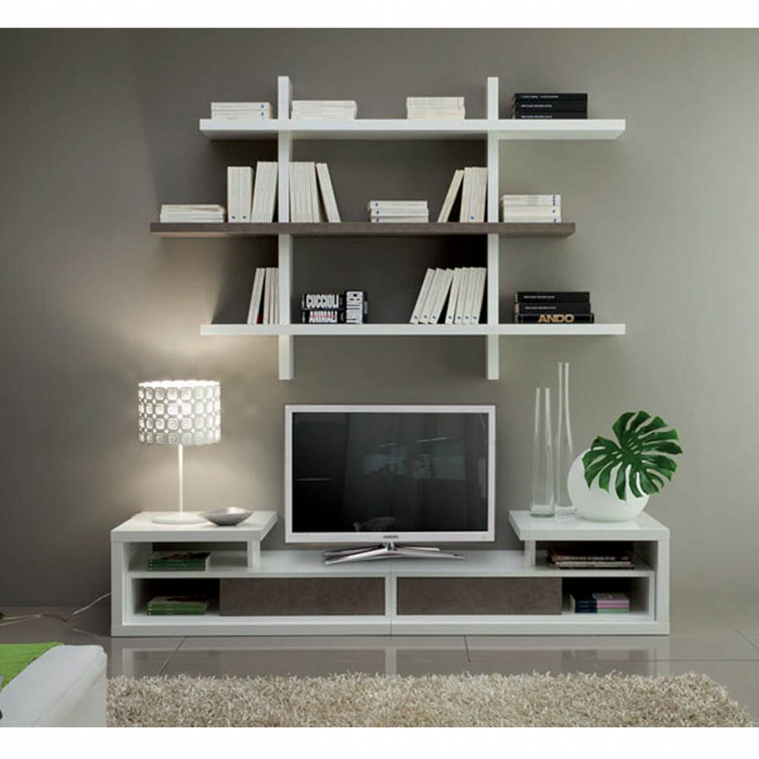 etagere murale design blanche vittoria zendart design. Black Bedroom Furniture Sets. Home Design Ideas