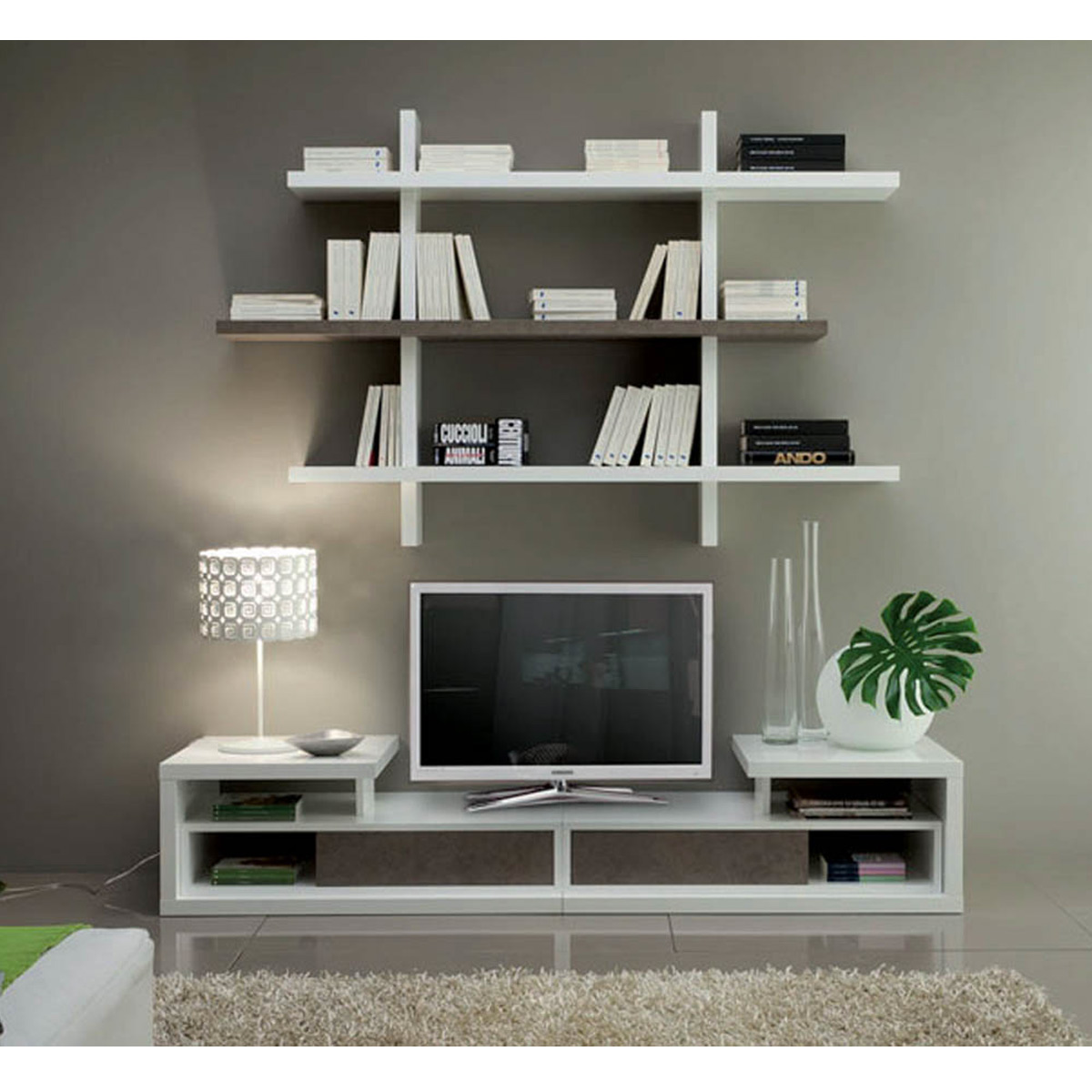 etagere murale sous tele stunning meuble tv mural rosa atylia premium meuble tlmeuble. Black Bedroom Furniture Sets. Home Design Ideas