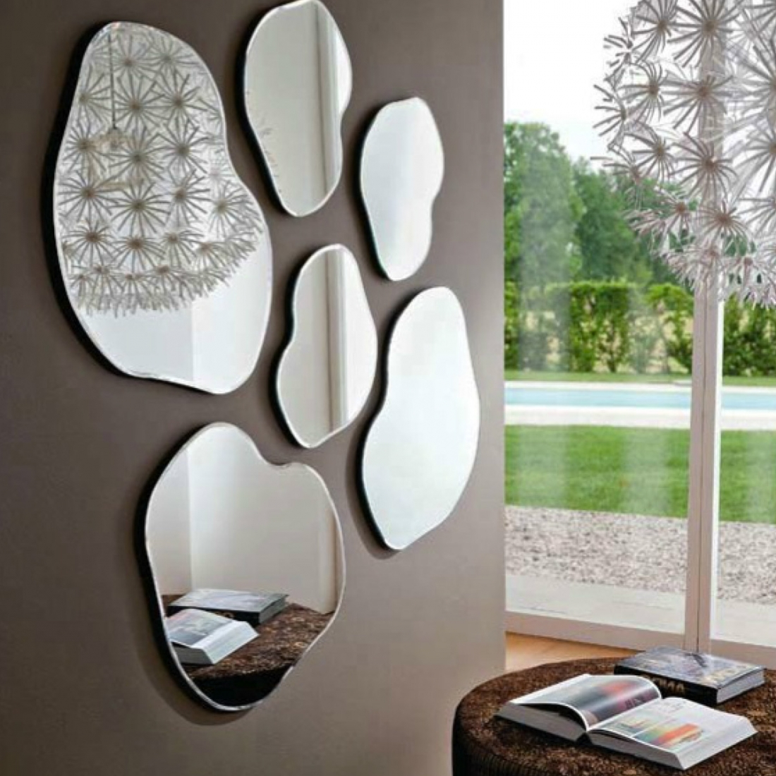 Lot de 2 miroirs design nancy zendart design for Decoration de miroir