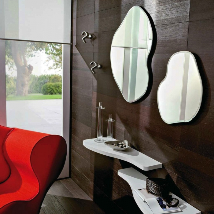 Lot de 2 miroirs design NANCY