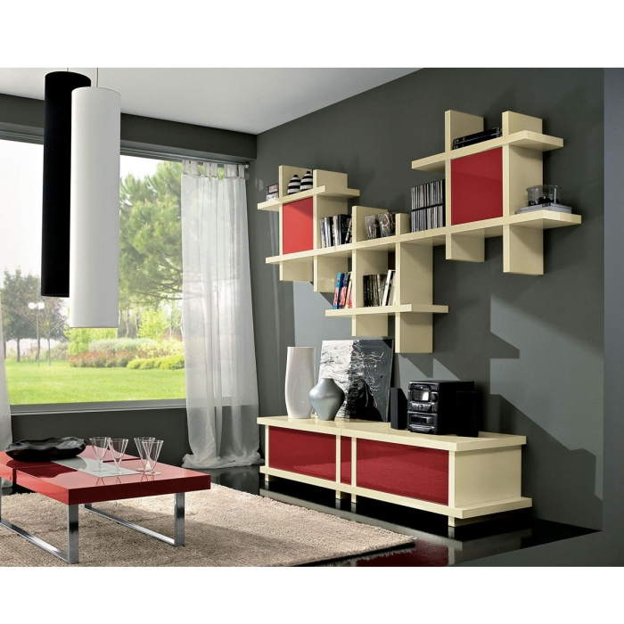 Tag re design alba cube Etagere murale design