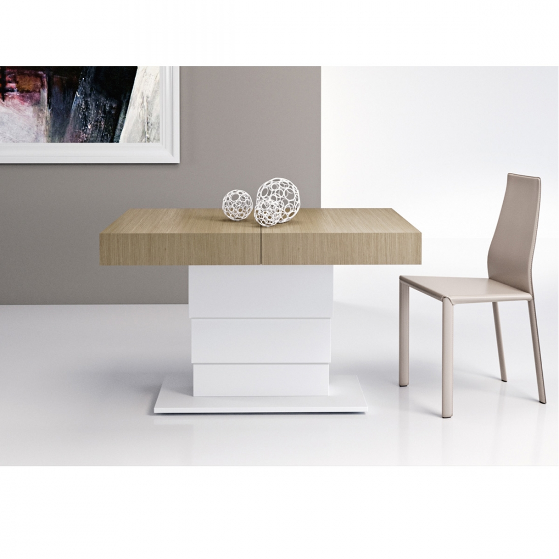 table basse modulable design ares fold acier