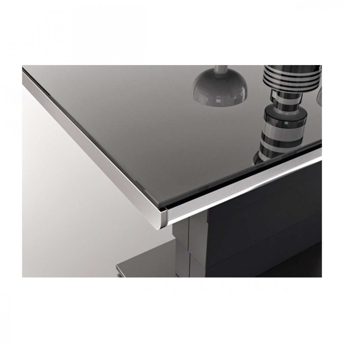 table basse modulable design ares glass inox. Black Bedroom Furniture Sets. Home Design Ideas