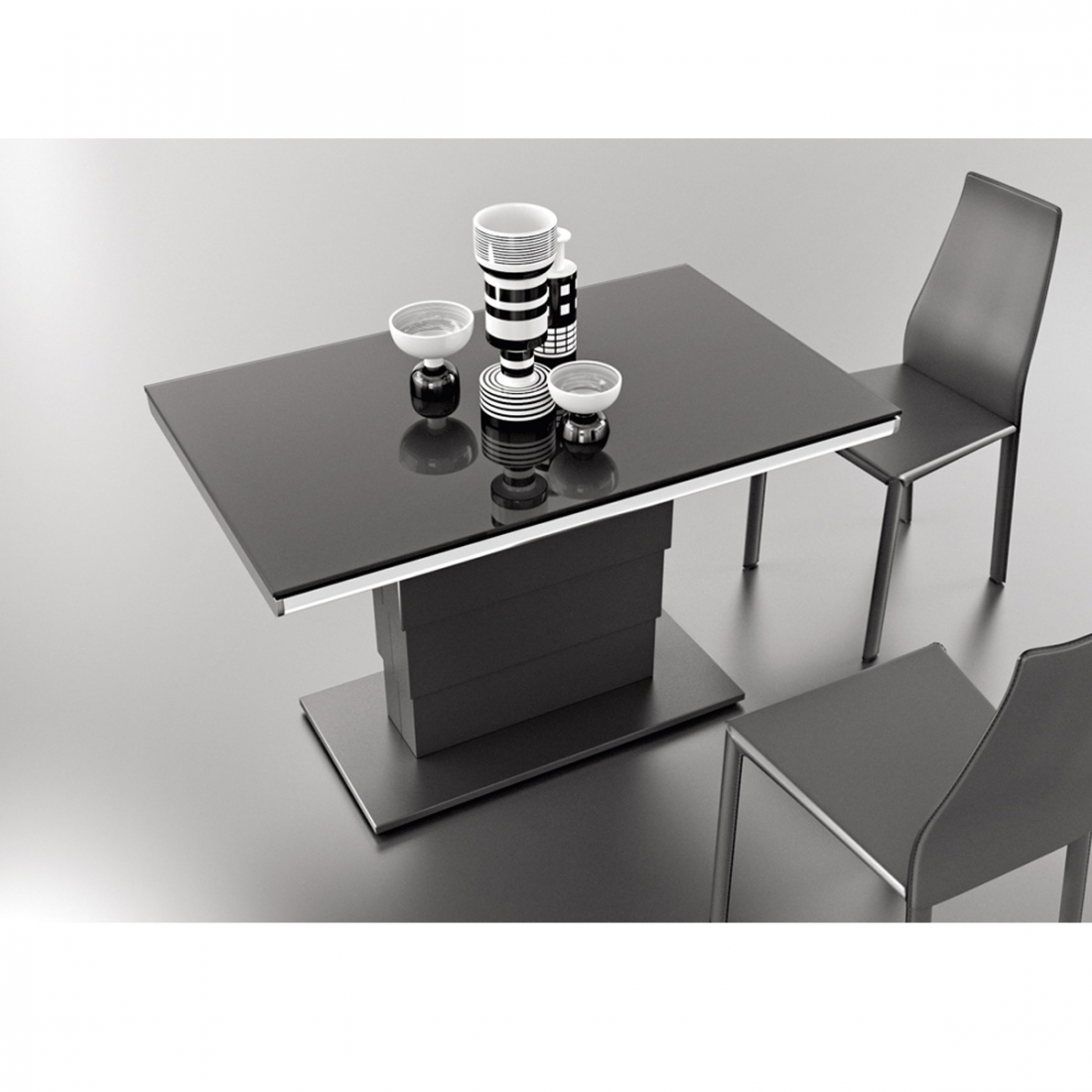 table modulable design ares glass zendart design. Black Bedroom Furniture Sets. Home Design Ideas