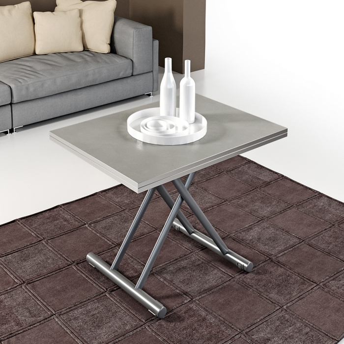 Table basse modulable design GINGILLO acier verni