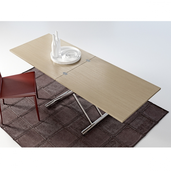 Table basse modulable design GINGILLO chromé