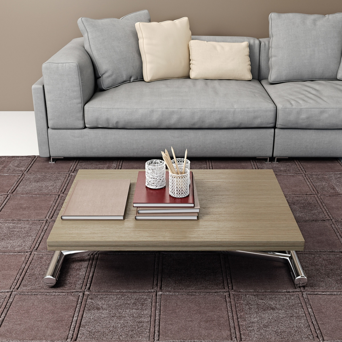 Table basse modulable design gingillo chrom for Table basse style mexicain