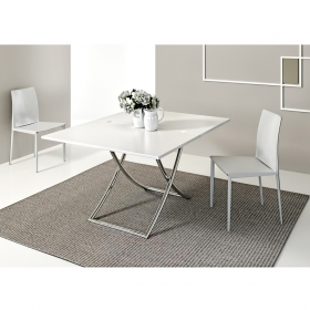 Table basse modulable design SAKURA chrome