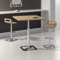 Tabouret réglable chrome design PROFILO