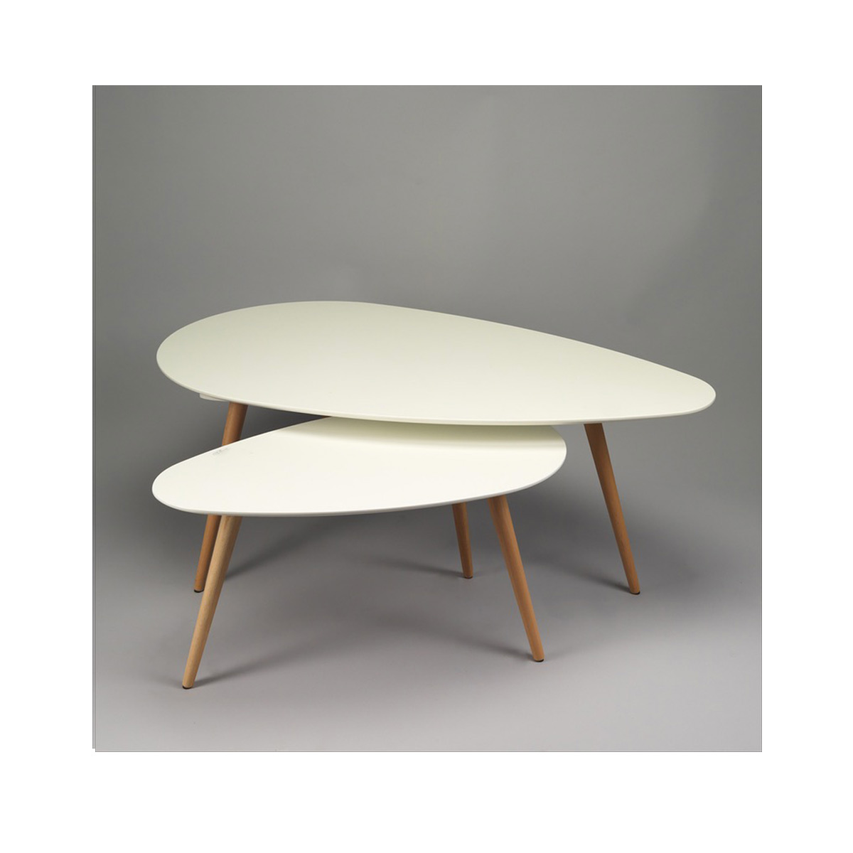 petites tables basses gigognes table de salon en bois blanc