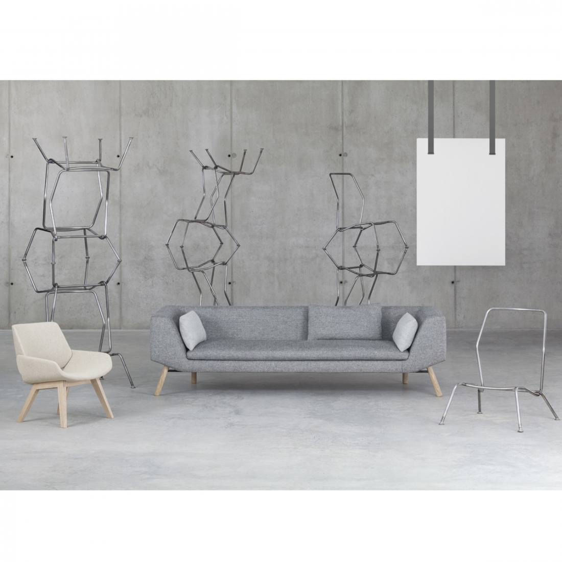Sofa 2 places combine prostoria zendart design - Canape deux places design ...