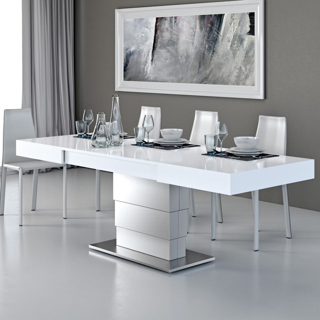 Table basse modulable ares fold inox zendart design - Table basse relevable design italien ...