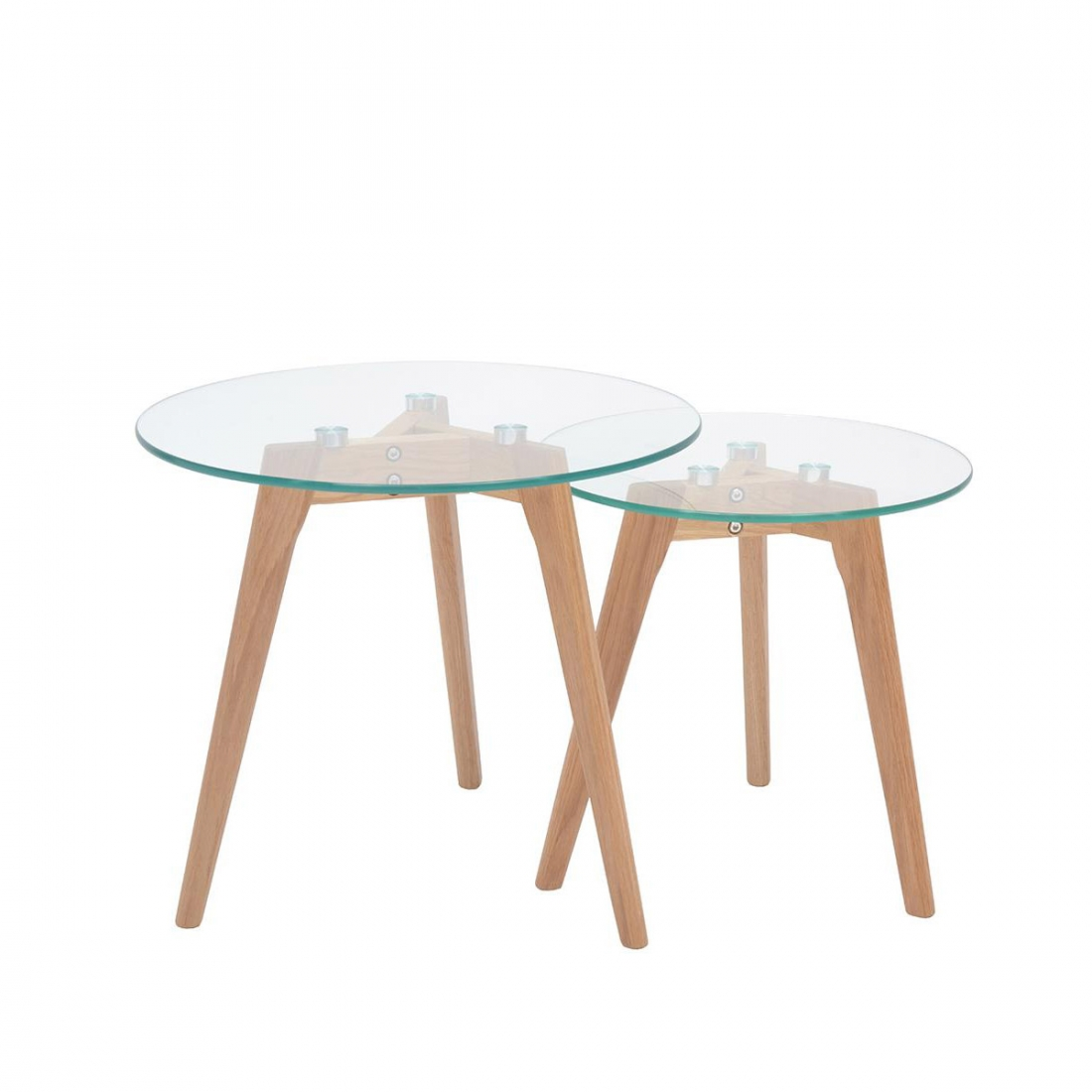 Table basse verre design avec plateau en verre zendart - Table d appoint contemporaine ...