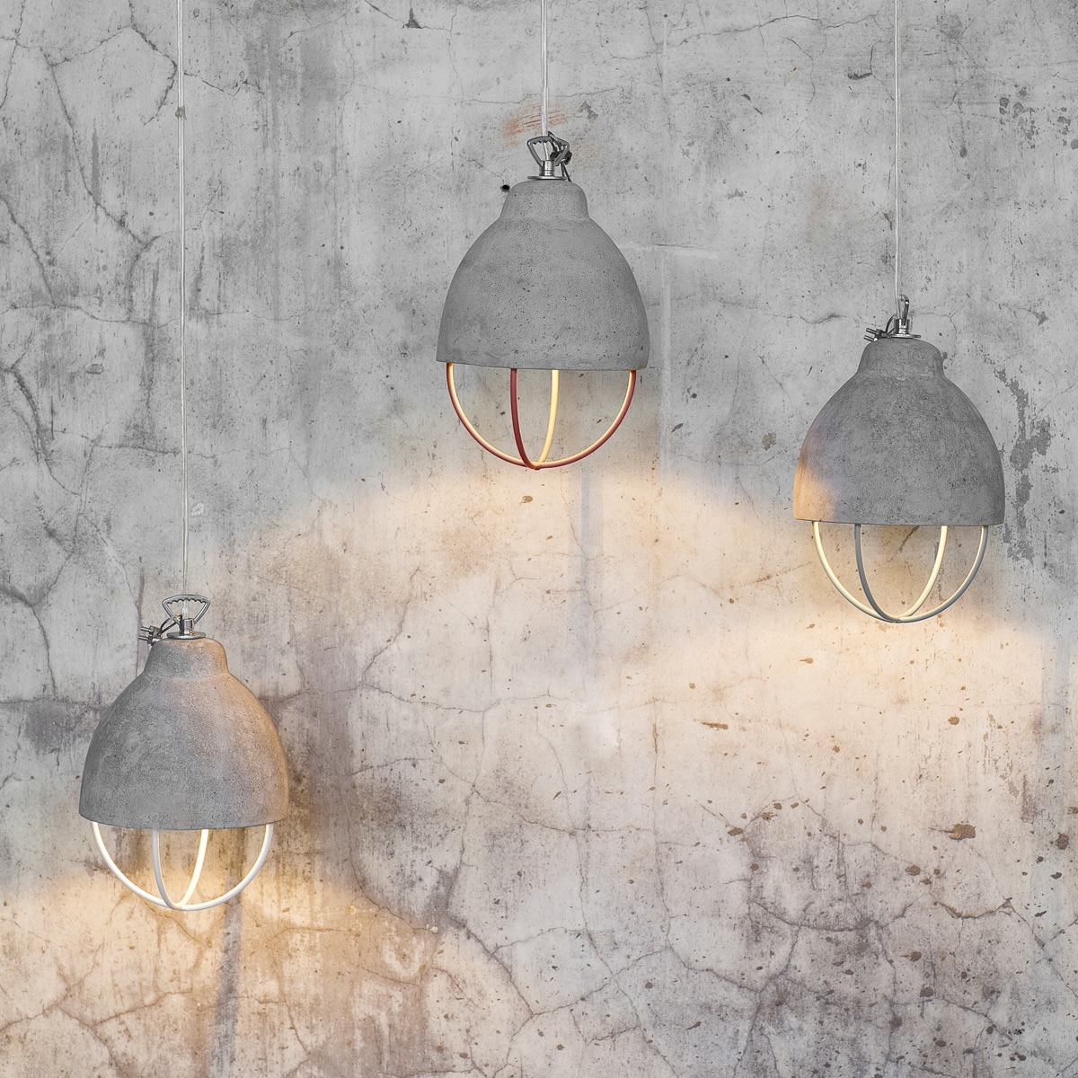 Suspension lumineuse design feeling beton serax for Lustre salle a manger design