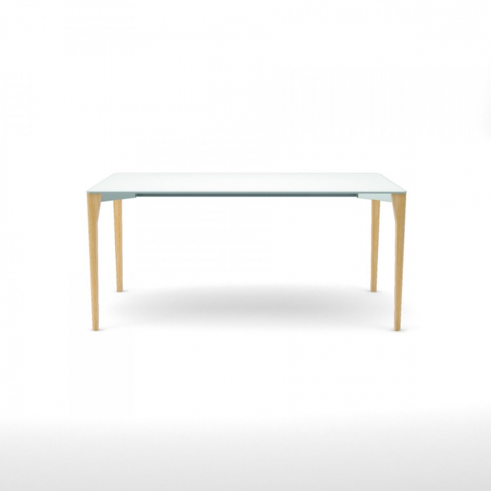 Table design porta venezia slim pieds naturel INFINITI