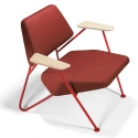 Fauteuil design Polygon structure rouge PROSTORIA