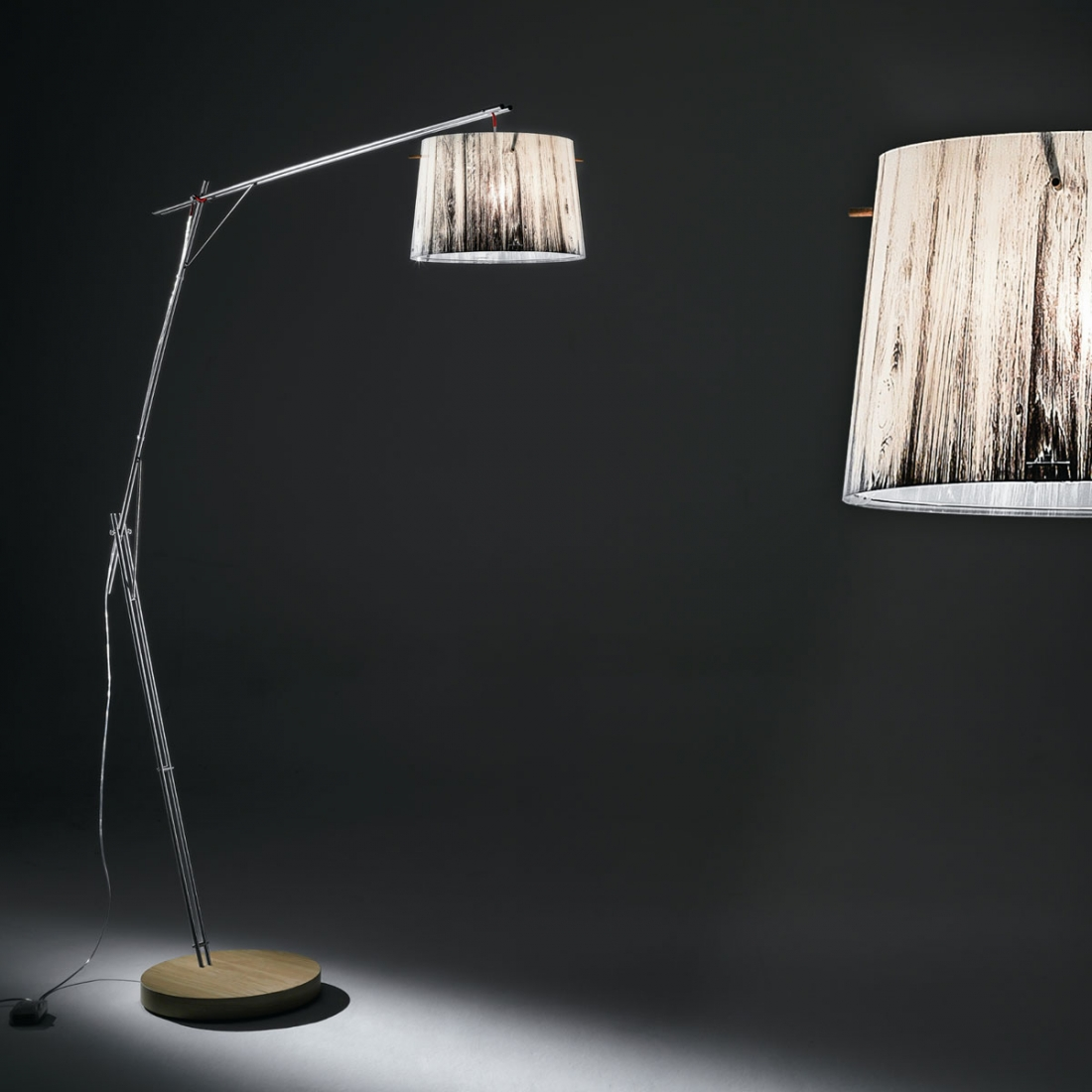 Lampadaire halogene woody slamp zendart design for Lampadaire interieur design