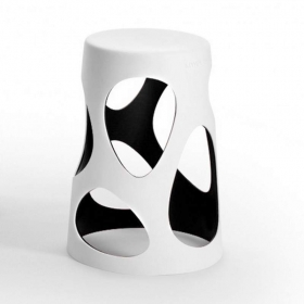 Tabouret design MYYOUR Liberty blanc, taille S