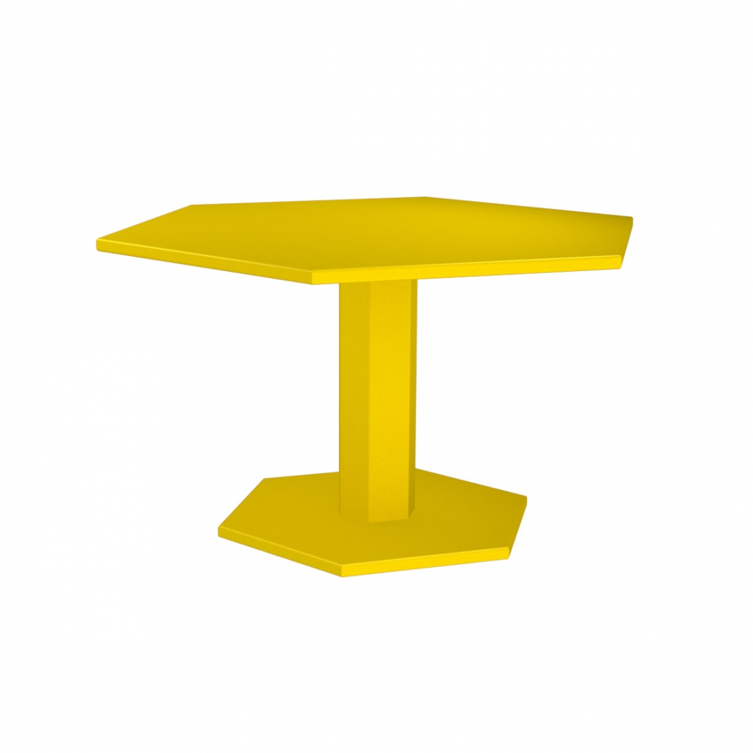 Table de repas hexagonale design indus zhed for Table de repas design