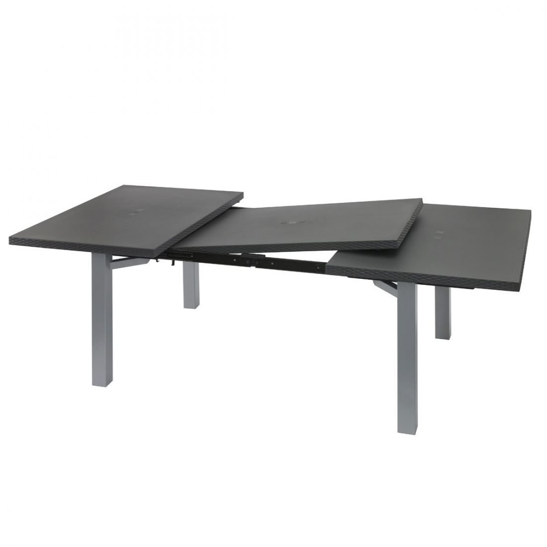 Table ext rieure extensible 100 240x120 ineo design grosfillex for Table 160 extensible