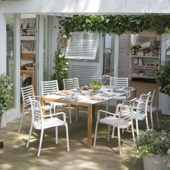 Salon de jardin de repas Sunday Copenhague design GROSFILLEX