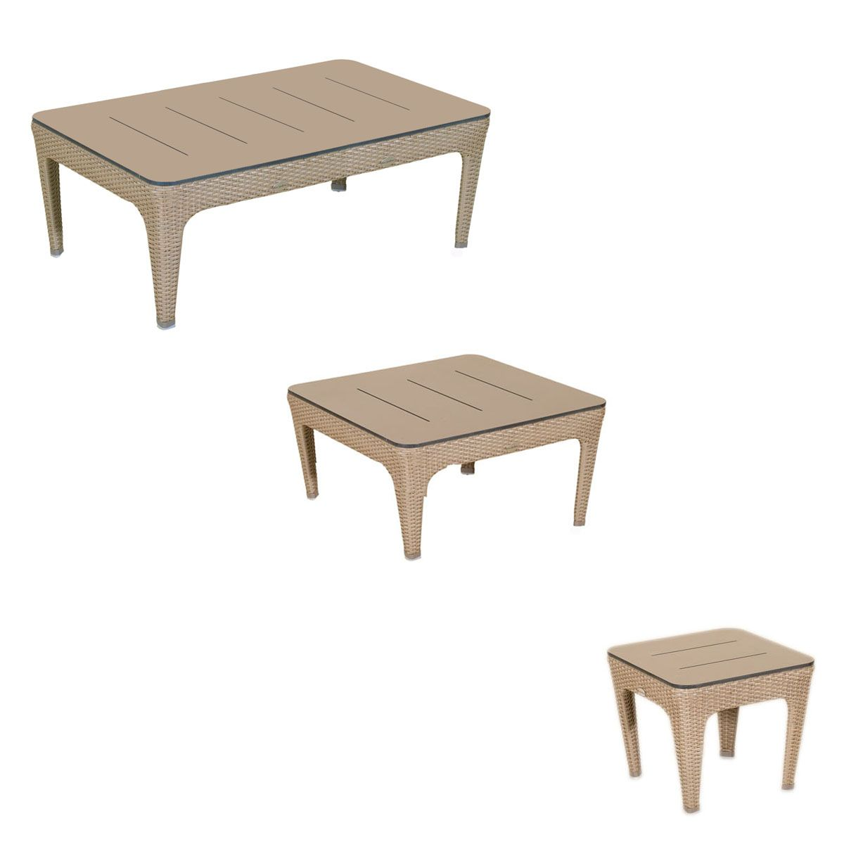 Table basse wicker briton sel les jardins for Table d exterieur design