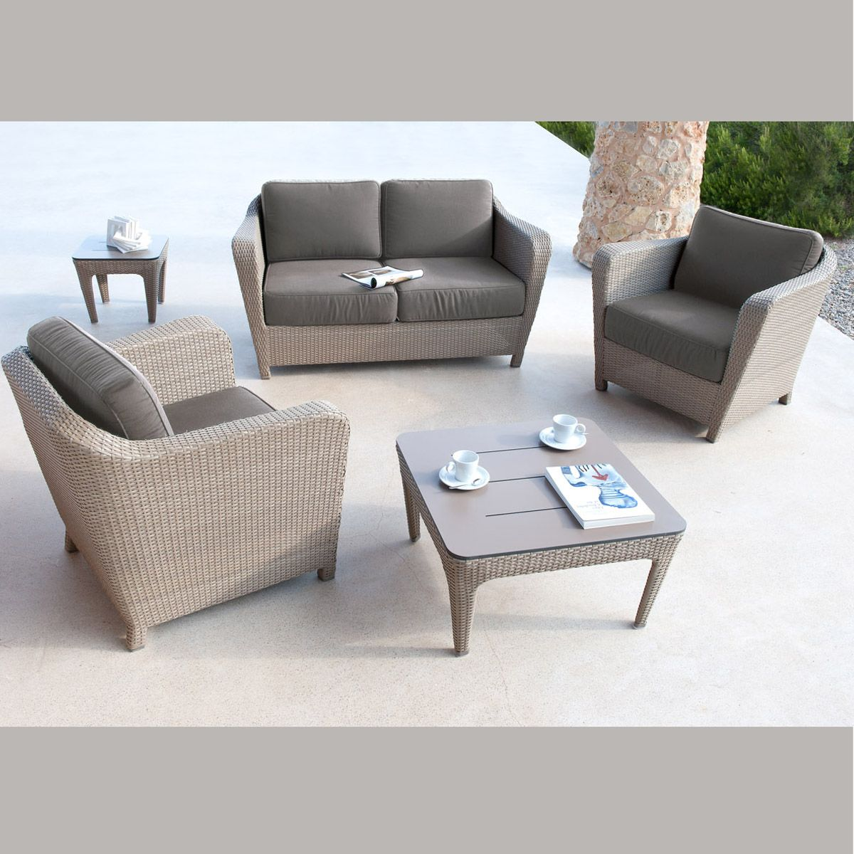 Canap 2 places wicker briton for Canape exterieur starck