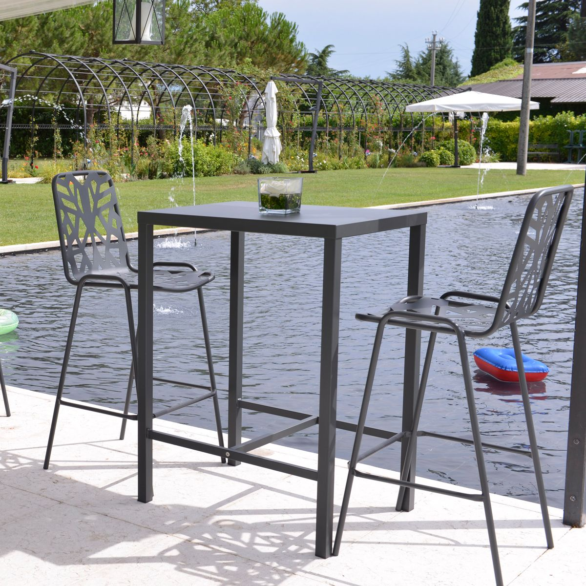 ensemble de jardin dorio 60x80 leaf rd italia. Black Bedroom Furniture Sets. Home Design Ideas